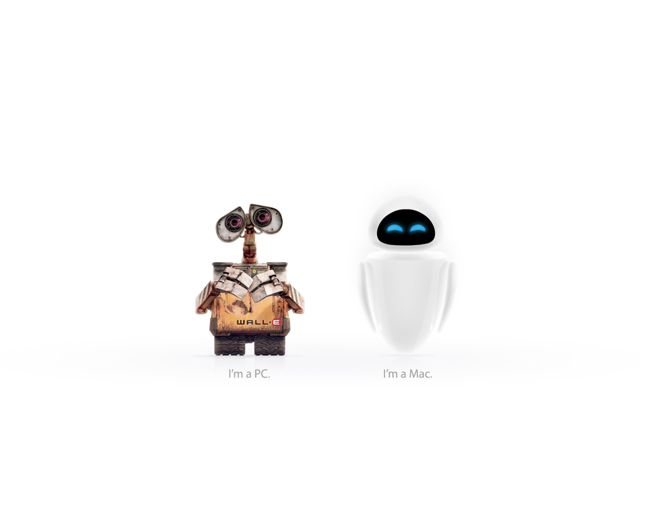 Wall-E and Eve
