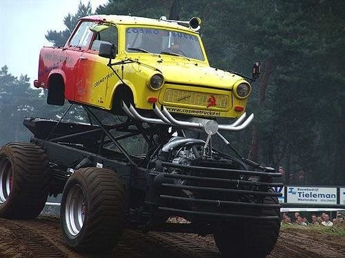 this funny modified car! Not much of the original car seems to remain