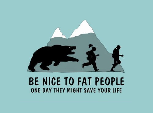 Very funny, but OK, not very politically correct… Fat people