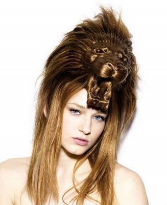 Funny hairstyle. Added to the Funny Women page!