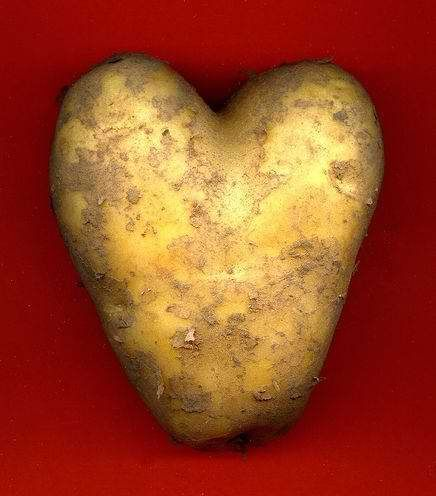 Heart Valentine Potato