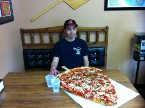 Biggest slice of pizza