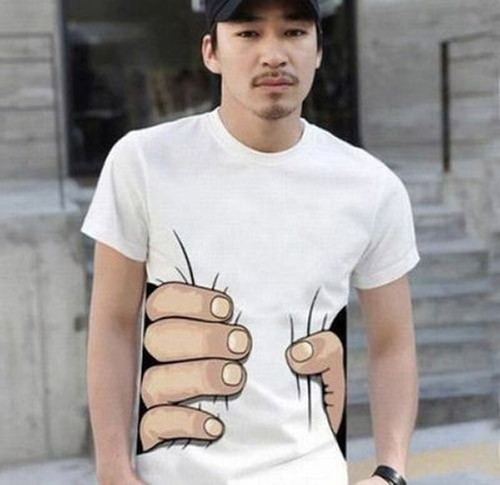 Haha now this is funny a very funny t shirt as if the guy was being