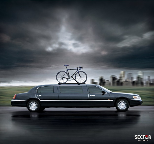 bike on limo