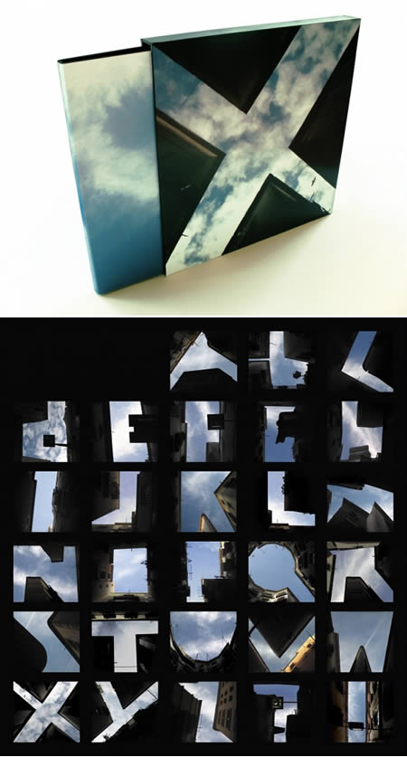 Sky Negative Space Letters