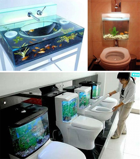 Bathroom fish tanks