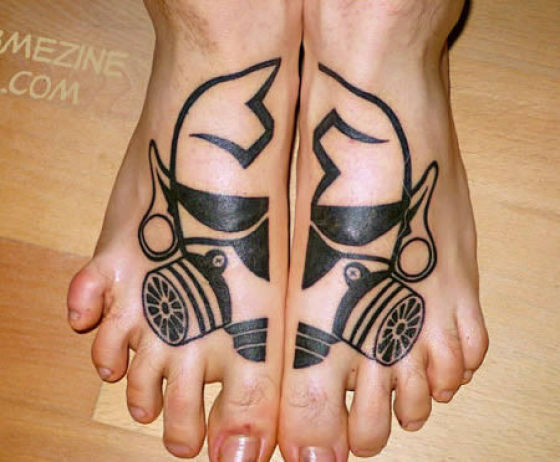 Nice foot tattoos!