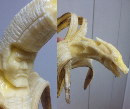 Sculpting banana