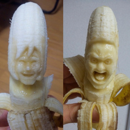 Sculpting bananas