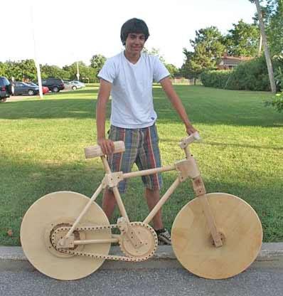 A bike made of wood!