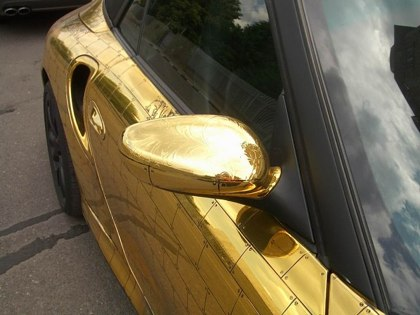 Gold automobile