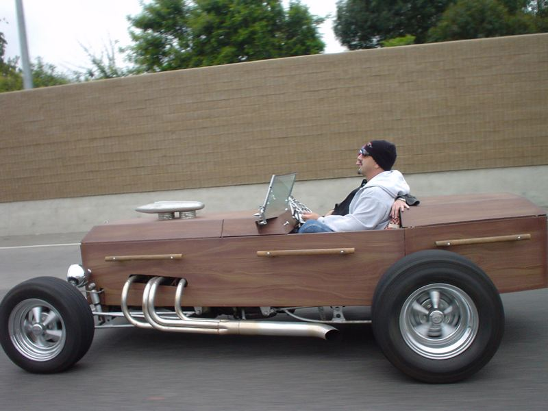 coffin car