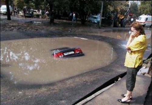Accident pothole