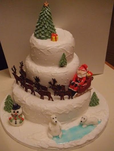 Christmas cakes Pictures!