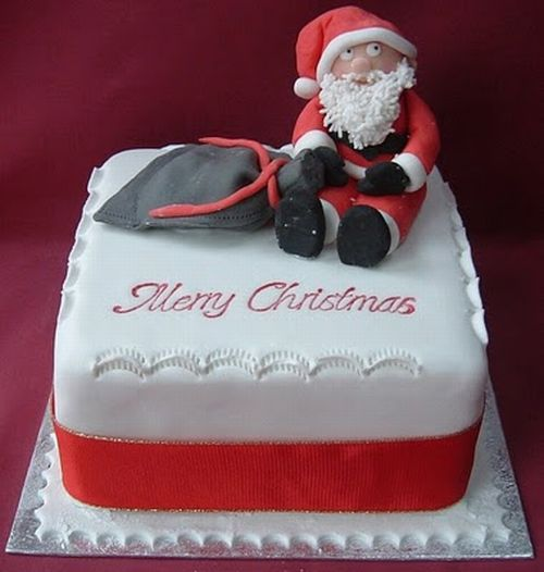 how to make a santa face cake