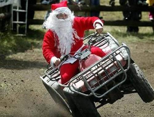 Santa Claus driving