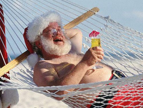 Vacation Santa Claus