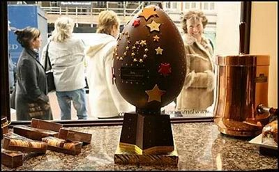 an egg made of chocolate