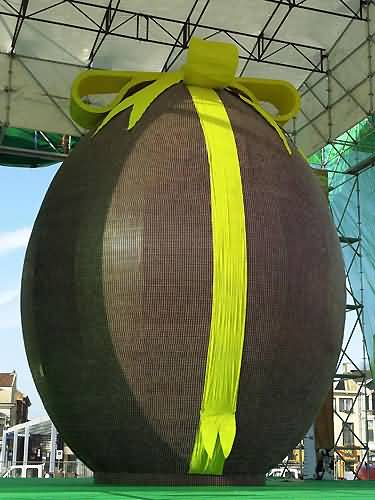 a giant chocolate egg!