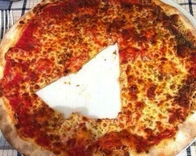 cut pizza