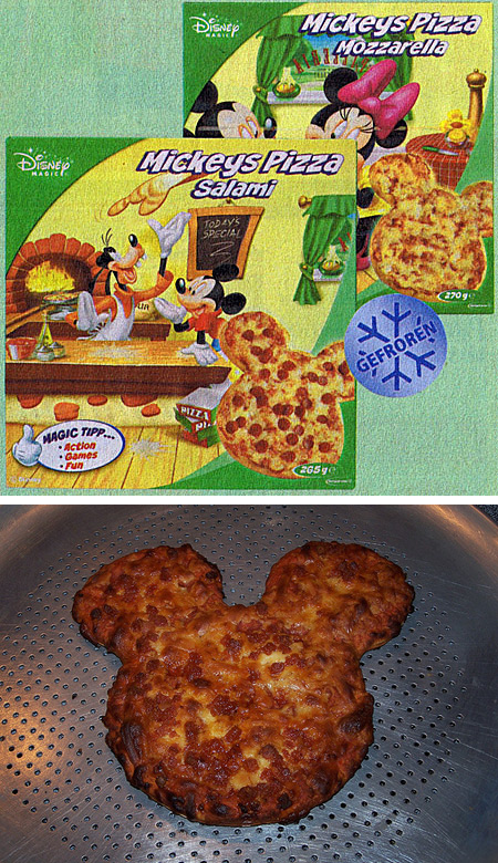 Mickey Mouse pizzas