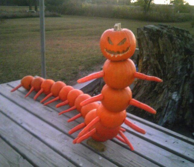 A pumpkin monster