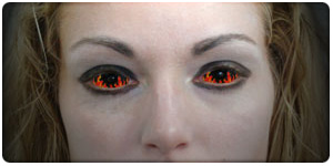 Contact lenses for Halloween!