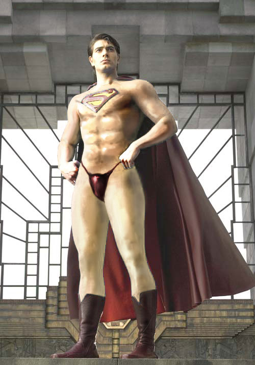 superman naked