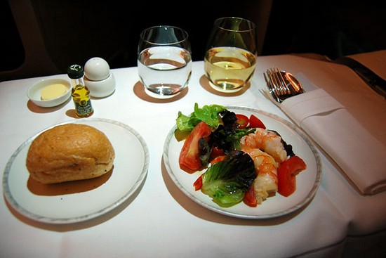 Singapore meal - A380