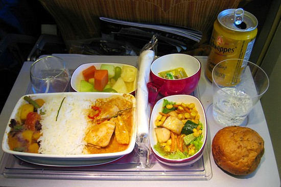 Pictures of airlines meals for Air thai cuisine