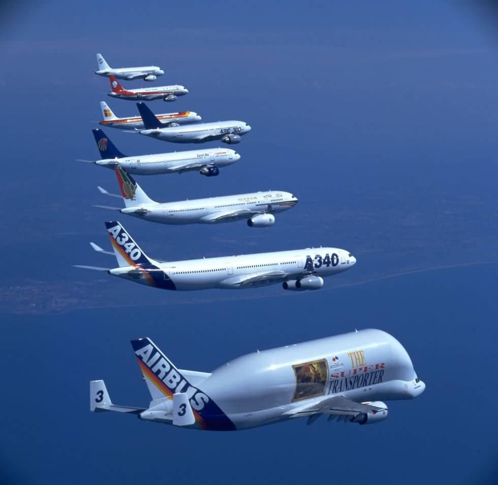 نسلهای هواپیمای مسافربری ایرباس --- عکس جالب از نسلهای مختلف هواپیمای مسافربری ایرباس ساخت فرانسه