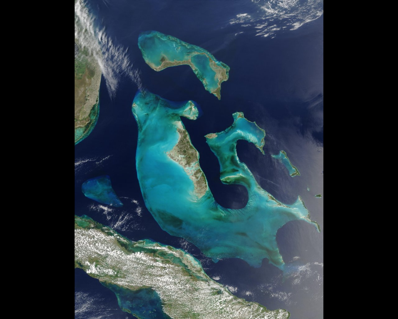 Satellite picture of The Bahamas