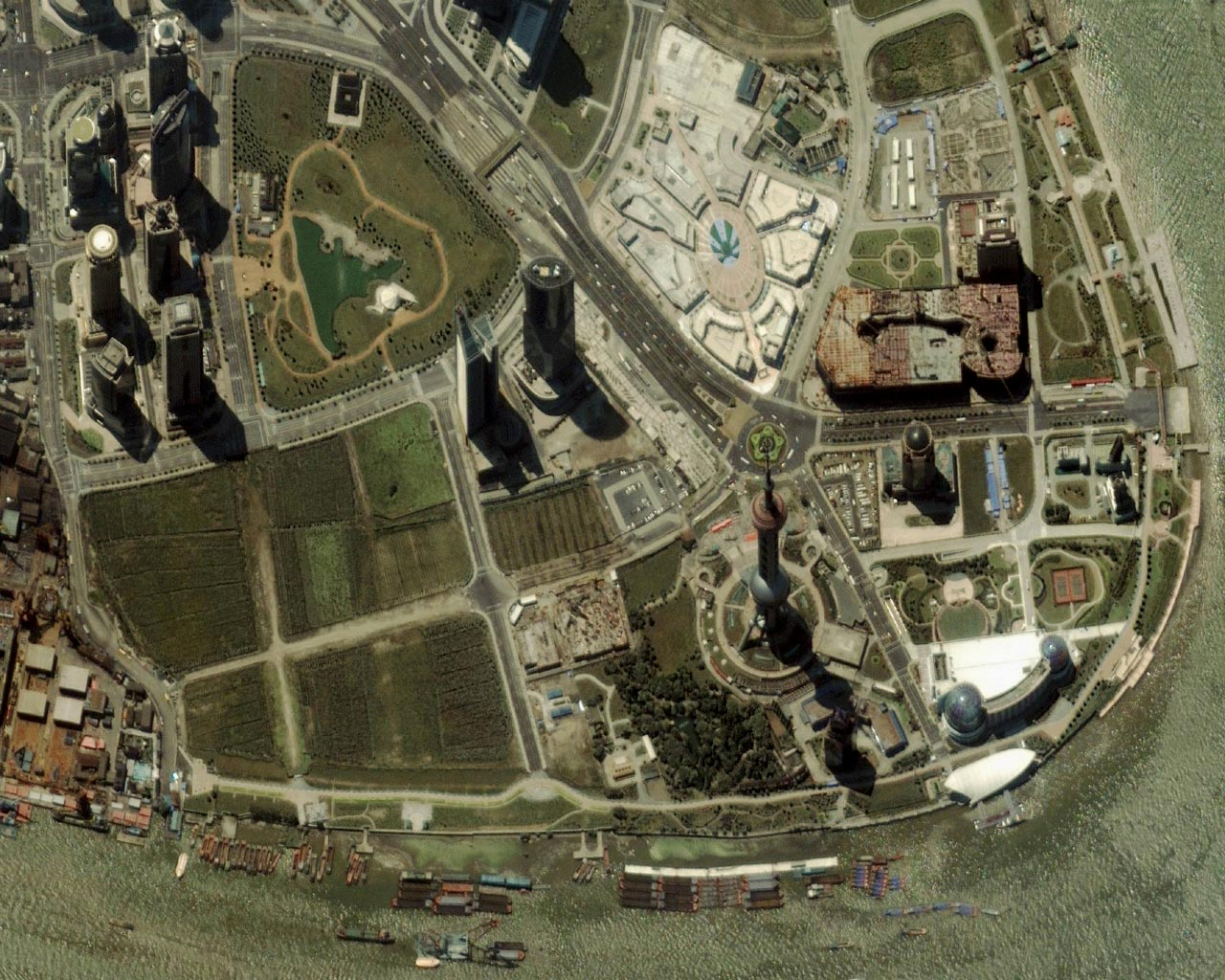Satellite image of Shanghai