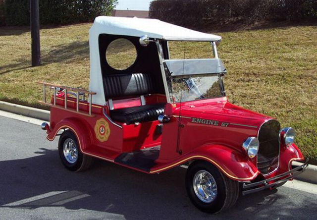 Firefighter golf cart