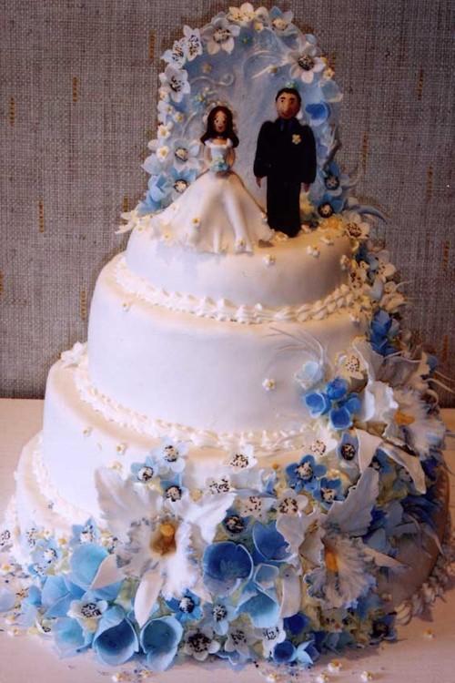 Wedding Cake In Plastic Canvas