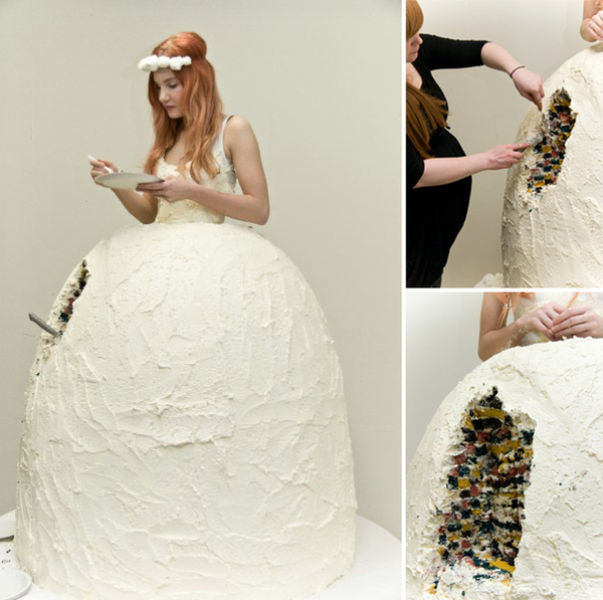 Cake wedding dress